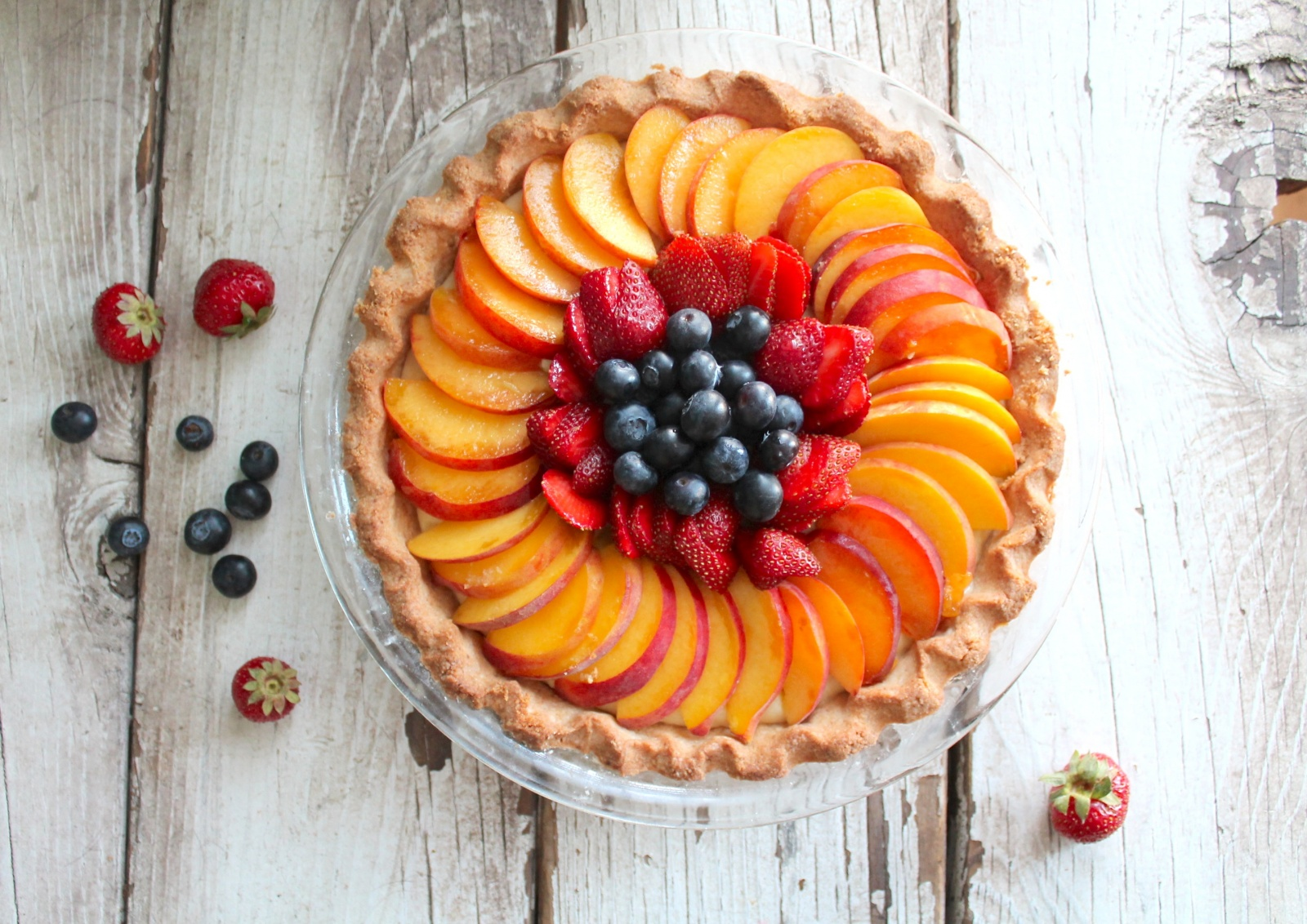 fruit custard tart