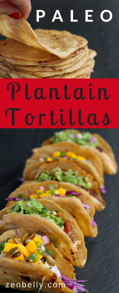 paleo plantain tortillas