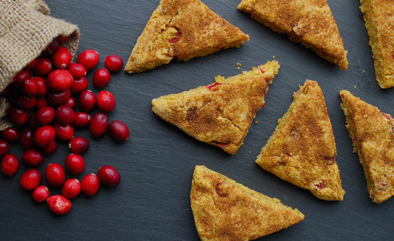 Fresh Cranberry Pumpkin Scones