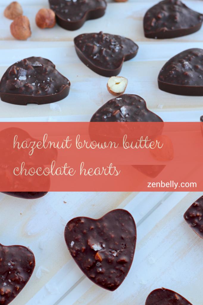 hazelnut brown butter chocolate hearts