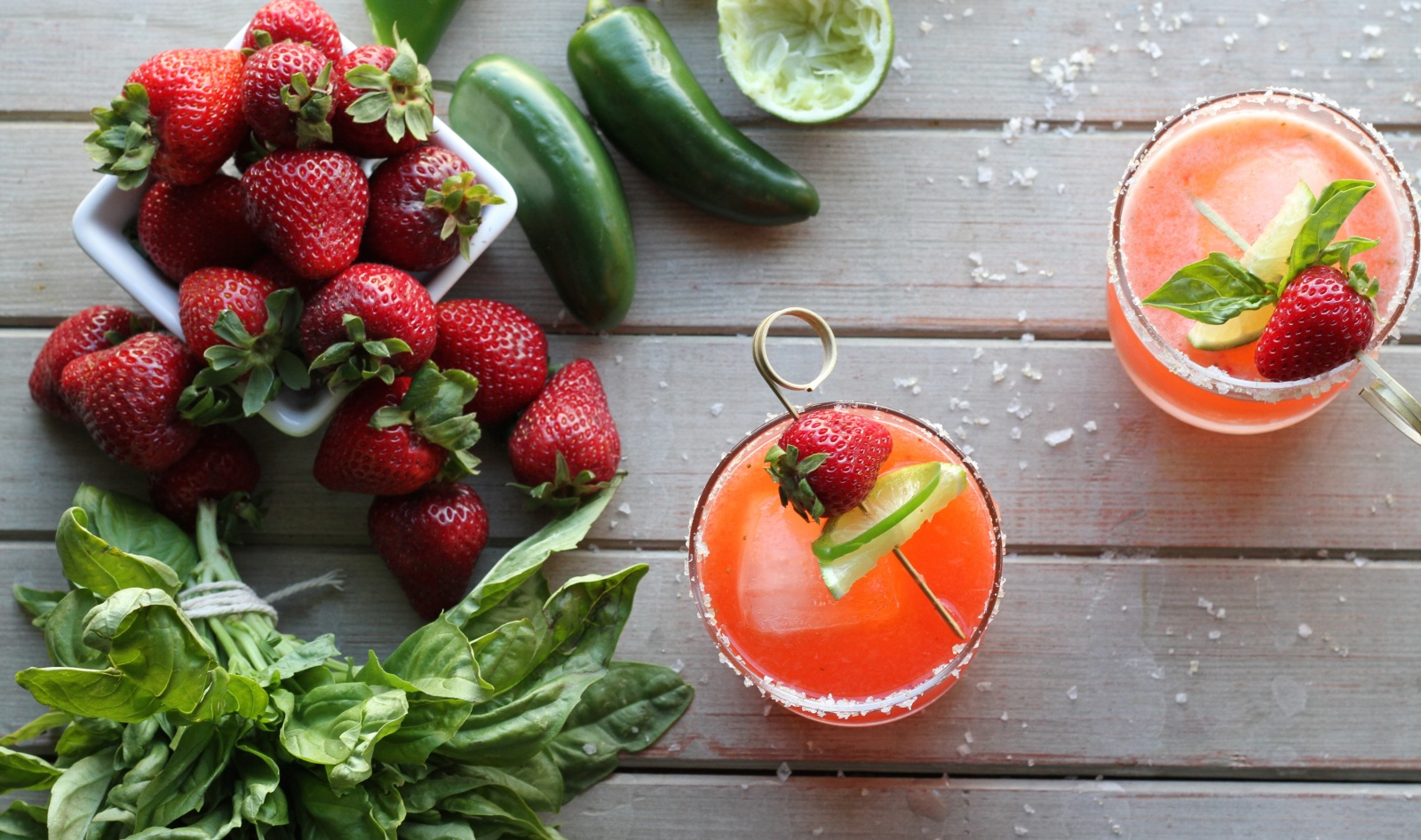 Strawberry Margaritas, 2 Ways