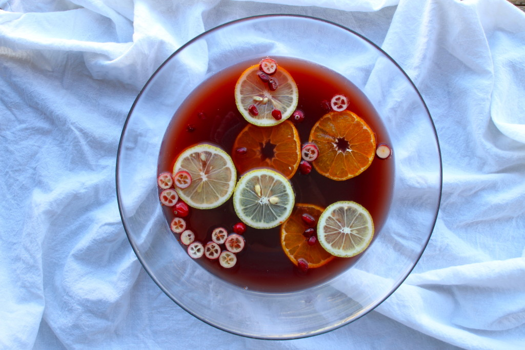 pomegranate pear punch