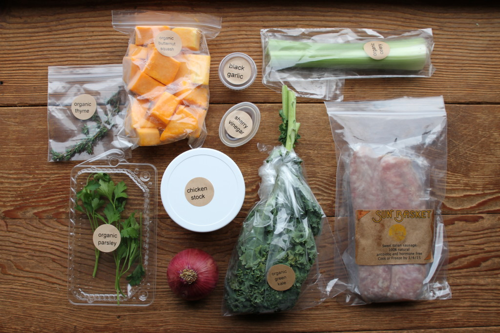 all of the ingredients in the exact amounts required for the recipe