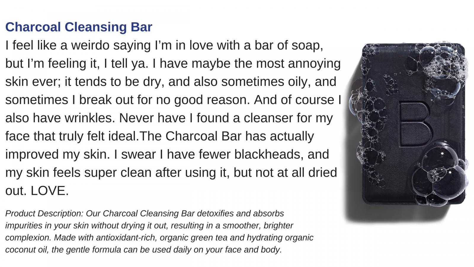 beautycounter charcoal bar