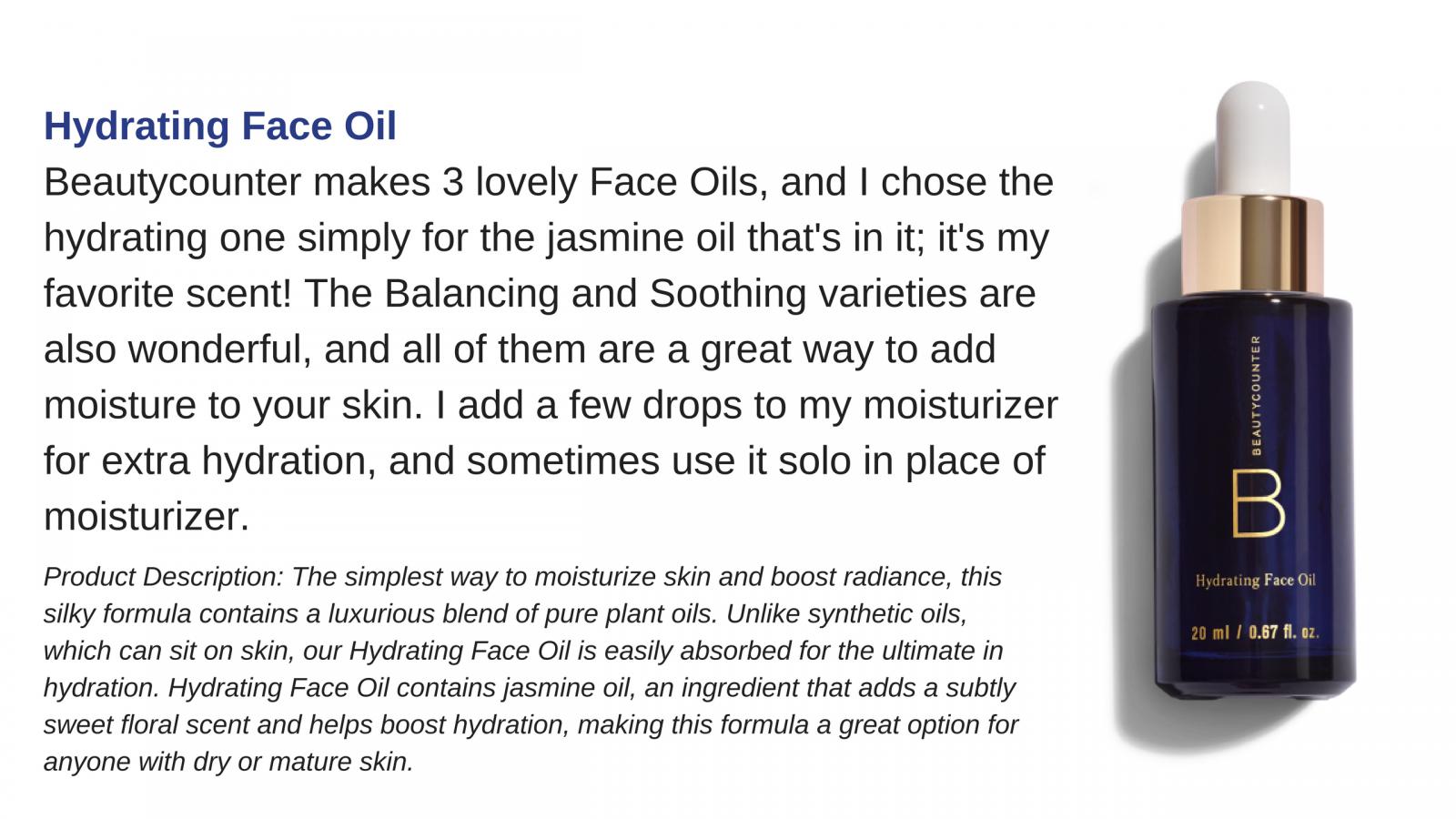 beautycounter face oil