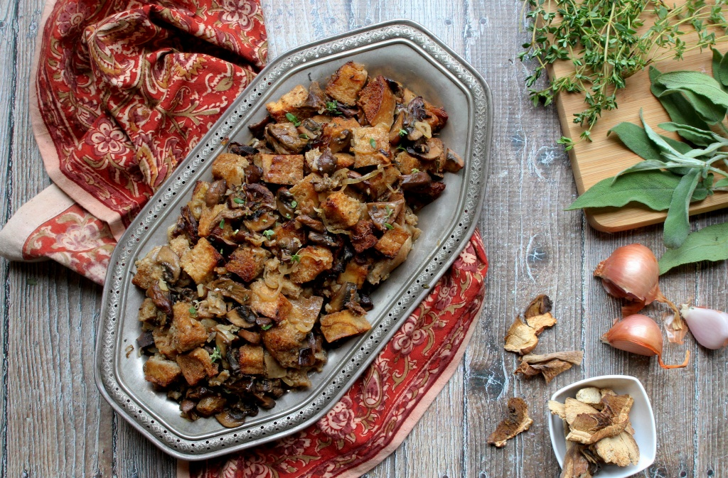 sourdough & mushroom stuffing