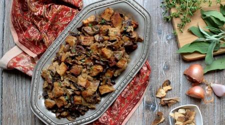 Gluten-Free Sourdough & Mushroom Stuffing