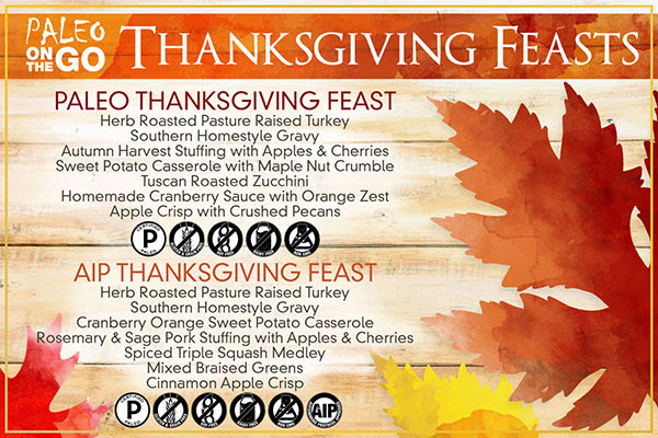 paleo thanksgiving delivered to your door
