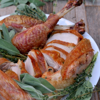 fresh herb dry brined turkey