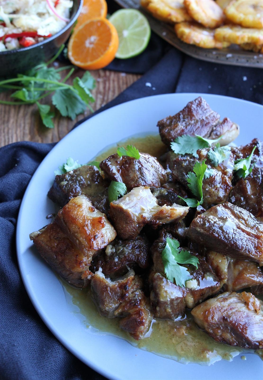 instantpot crispy mojo pork with spicy slaw