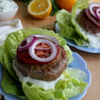 lemon-herb lamb burgers