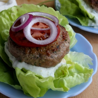 lemon-herb lamb burgers