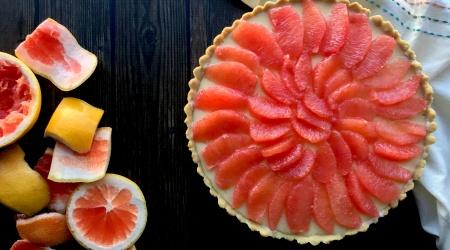 Grapefruit Tart (paleo, nut-free