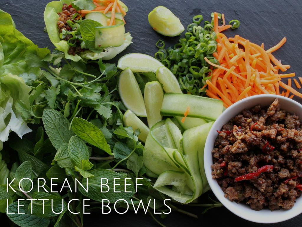 korean beef lettuce bowls