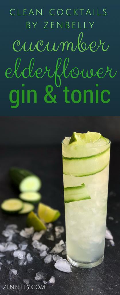 cucumber elderflower gin & tonic