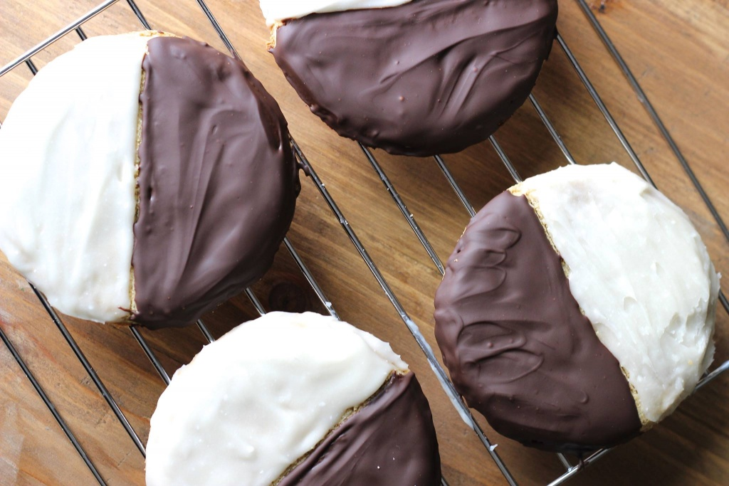 paleo black and white cookies