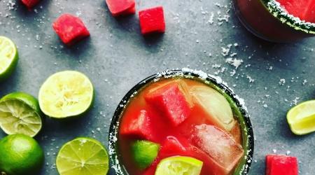 Spicy Watermelon Agua Fresca & Margarita