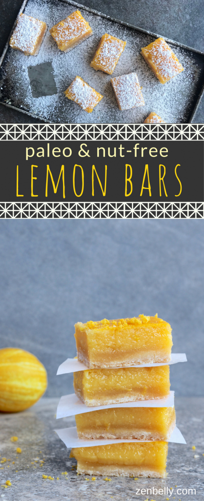 paleo nutfree lemon bars