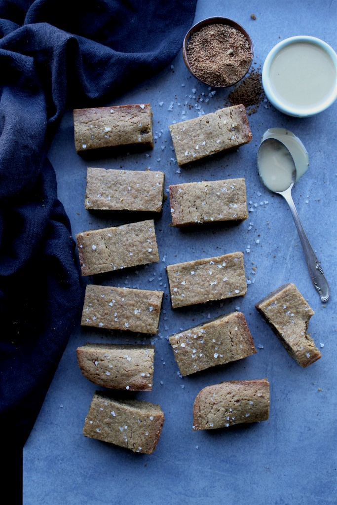 brown butter tahini blondies