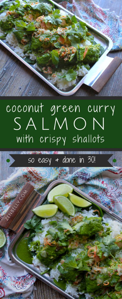coconut green curry salmon