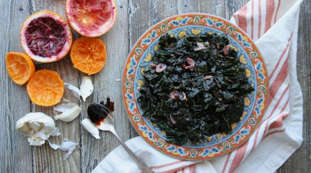 Sautéed Kale with Orange and Garlic