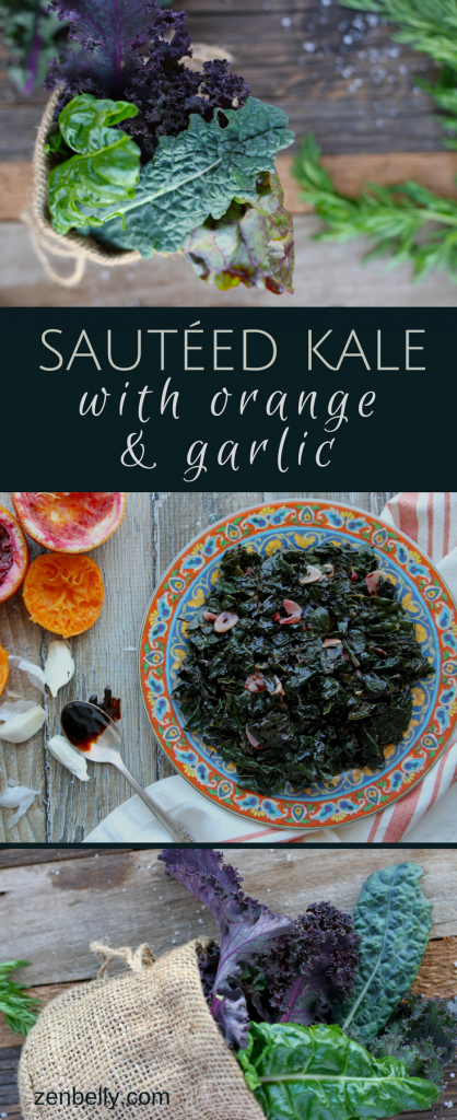 kale orange garlic