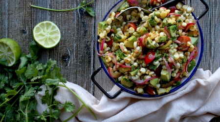 Charred Corn Salad with Pickled Onions & Avocado
