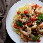sheet pan greek shrimp