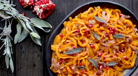 Butternut Squash Noodles with Prosciutto & Sage