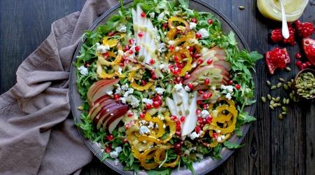 Delicata, Pear & Pomegranate Salad – Fall salad perfection