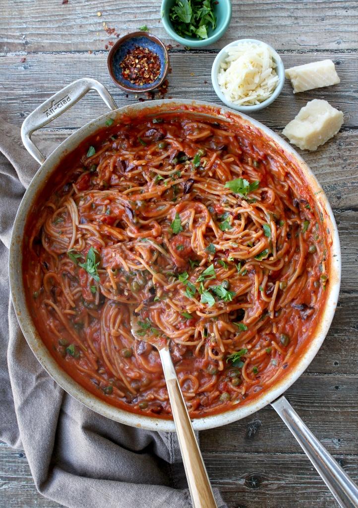 one skillet pasta puttanesca 1