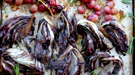 Pork Tenderloin with Roasted Grapes & Radicchio