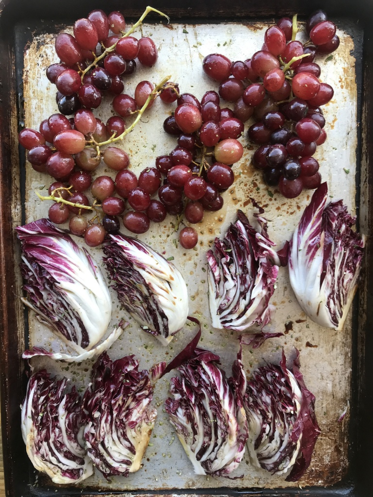 pork radicchio grapes