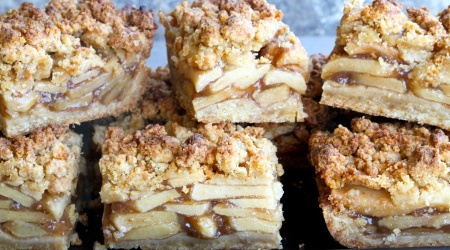 apple pie bars (gluten-free, grain-free, refined sugar-free)