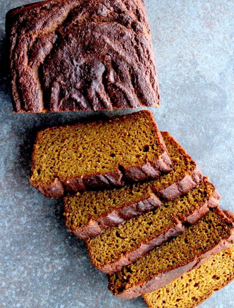 brown butter bourbon pumpkin bread