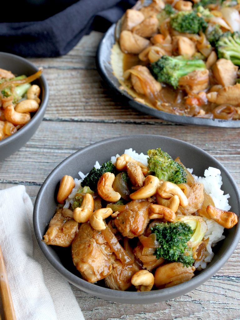 orange cashew chicken stir fry 3