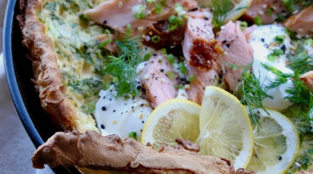 Savory Dutch Baby with Smoked Salmon