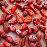 honey roasted strawberries