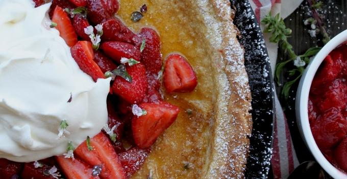 Dutch Baby with Strawberries & Cream (gluten-free)