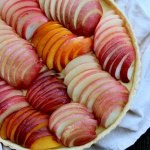 nectarine custard tart