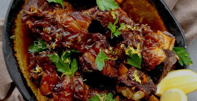 pressure cooker honey balsamic short ribs