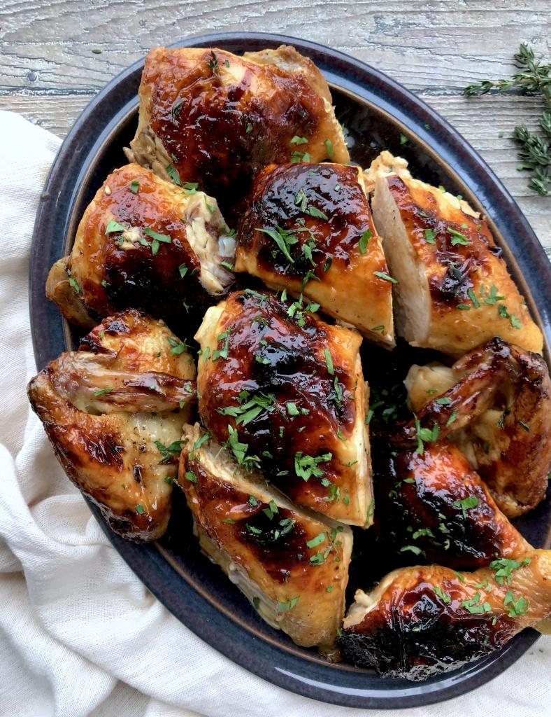 honey-garlic roast chicken