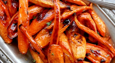 Perfectly Simple Roasted Carrots with Honey & Thyme