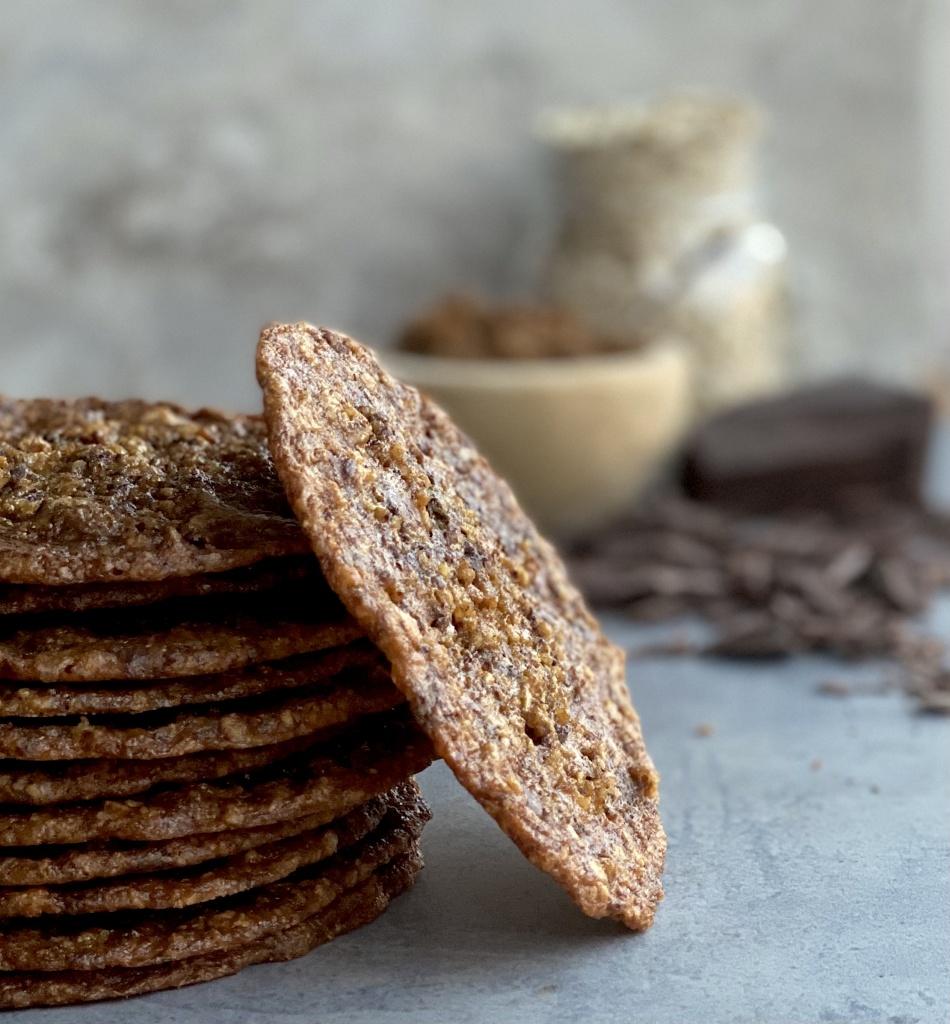 chocolate oatmeal florentine cookies